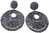 Kenneth Jay Lane Seed Bead Gypsy Beaded Drop Pierced Earrings