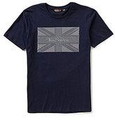 Ben Sherman Short-Sleeve Crewneck Union Jack Graphic Tee