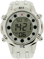 U.S. Polo Assn. Uspa Mens White Silicone Strap Digital Watch Family