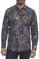 Robert Graham Big Nova Floral Plaid Sport Shirt