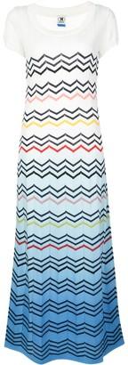M Missoni zigzag pattern maxi dress