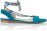 Gianvito Rossi Women's Striped Ankle-Tie Sandals-TURQUOISE