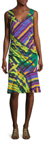 Tracy Reese Silk Print Flounced Tank Dress