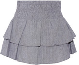 Apiece Apart Analisa tiered woven cotton mini skirt
