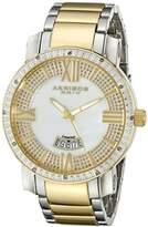 Akribos XXIV Men's AK506TT Diamond Swiss Quartz Bracelet Watch