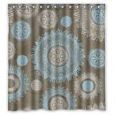 SkuGo Bathroom Curtains Of Circle Polyester Width X Height / 66 X 72 Inches / W * H 168 By 180 Cm Best Fit For Teens Birthday Her Mother Valentine. Healthy. Fabric