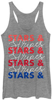 Chin Up Apparel Women's Tank Tops GRAY - Gray Heather 'Stars & Stripes' Racerback Tank - Women