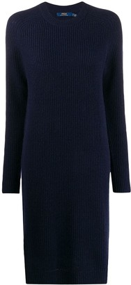 Polo Ralph Lauren Ribbed-Knit Midi Dress