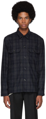 Norse Projects Navy Wool Check Kyle Jacket