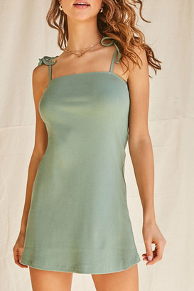 Forever 21 Ribbed Self-Tie Cami Dress