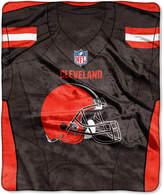 Northwest Company Cleveland Browns Jersey Plush Raschel Throw