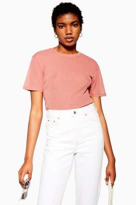Topshop Pink Plain Mesh T-Shirt