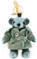 Burberry trenchcoat bear keyring - women - Cotton/Calf Leather/Nylon/Cashmere - One Size