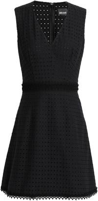 Just Cavalli Broderie Anglaise Cotton Mini Dress