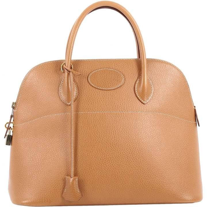 Hermes Vintage Evelyne Camel Leather Handbag