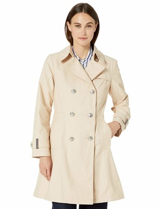 Vince Camuto Women's Double-Breasted Trench Coat Rain Jacket