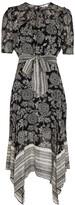 Thumbnail for your product : Veronica Beard Smita printed silk-chiffon midi dress
