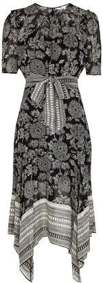 Veronica Beard Smita printed silk-chiffon midi dress