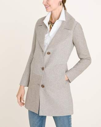 Chico's Chicos Textured Menswear-Inspired Coat