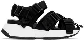 MM6 MAISON MARGIELA Black Safety Strap Chunky Sandals