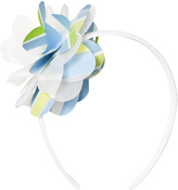 Il Gufo Blue and Green Flower Headband
