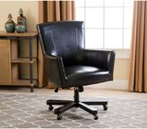 Abbyson Living® Jackson Leather Office Chair in Black