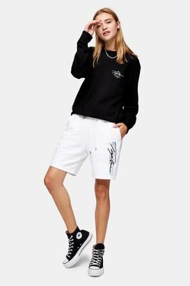Topman Womens Signature White Jersey Shorts - White