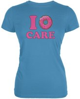 Tee's Plus I Donut Care Aqua Juniors Soft T-Shirt