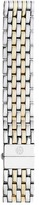 Michele 18mm Deco Two-Tone 7-Link Bracelet Silver/Gold Watches