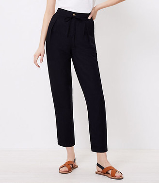 LOFT Beach Pleated Tie Waist Pants