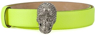 Philipp Plein Crystal Skull Belt