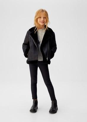 MANGO Coated skinny-fit trousers black denim - 5 - Kids