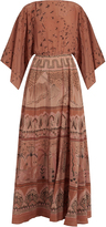Valentino The Garden of Earthly Delights-print silk gown