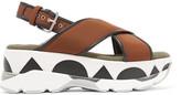Marni Leather-trimmed neoprene platform sandals