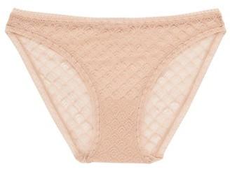 Eres Torsade Leavers Lace Briefs - Womens - Nude
