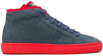 Hide&Jack Color-Block High-Top Sneakers