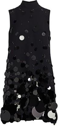 Prada Ricamo Sequin Shift Dress