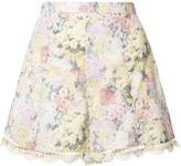 Zimmermann Scallop Edge Floral Shorts