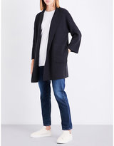 The White Company Open-front knitted cardigan
