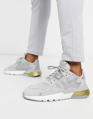 adidas nite jogger sneakers in gray space tech pack
