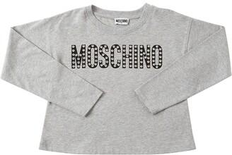 Moschino Embellished Logo Jersey T-shirt
