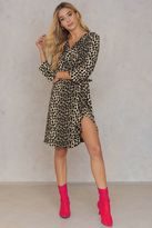 Saint Tropez Leopard Print Ruffle Dress