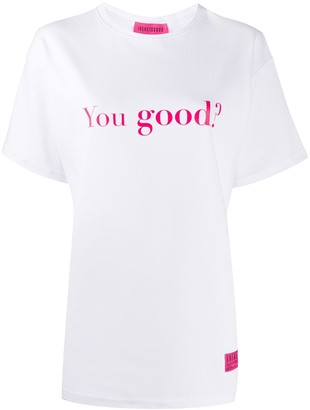 Ireneisgood You Good? print T-shirt