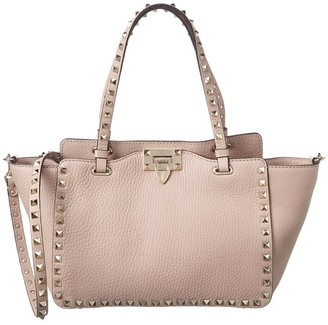 Valentino Rockstud Small Grainy Leather Tote