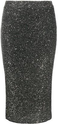 MICHAEL Michael Kors Glitter-Effect Pencil Skirt