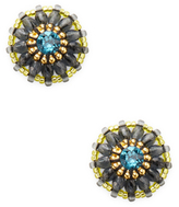 Miguel Ases Beaded Stud Earrings