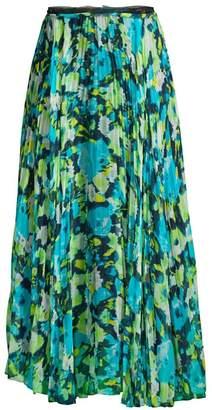 Jason Wu Collection Printed Chiffon Pleated Skirt