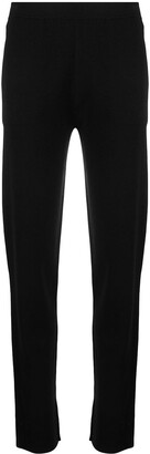 Sminfinity Milano side-slit knitted trousers