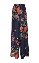 Diane von Furstenberg Wide Leg Floral Silk Pants