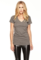LnA LnA Deep V T-shirt in Grey
